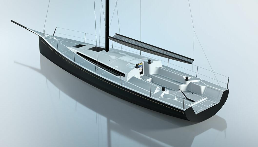MODERNE: Båten får frekke linjer og en stor cockpit. Den får også rorkult.