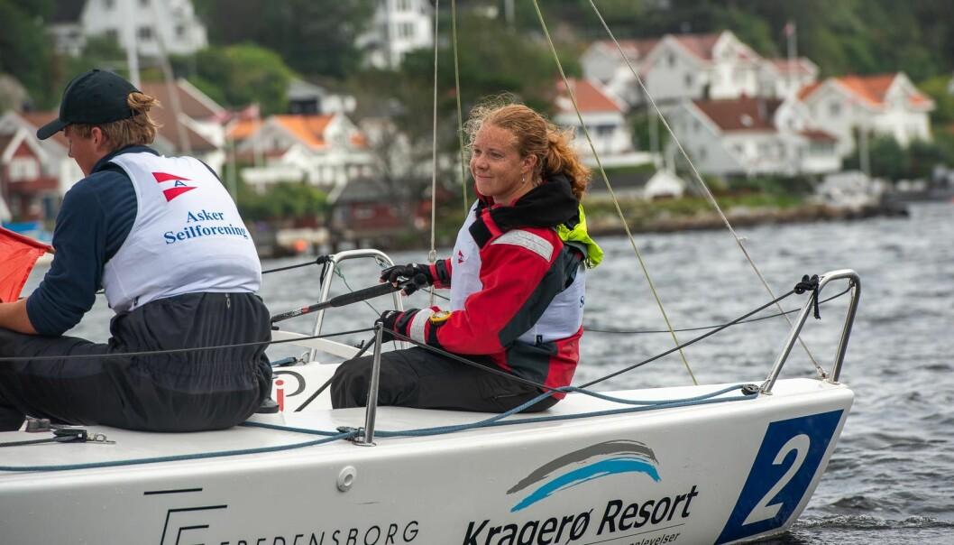 DAME OG MANN: En dame og en mann utgjør laget når det i slutten av september blir en regatta med J/70-er som seiler et ligaformat.