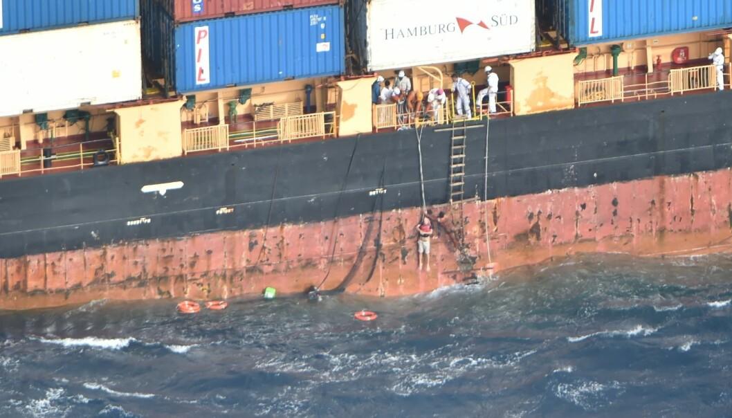 REDDET: Harald Solfjeld ble etter diverse forsøk reddet om bord på «Southern Lily».