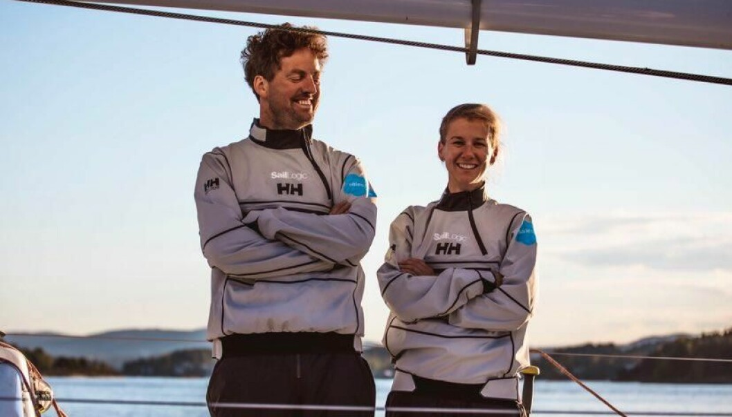 STERK DUO: Anette Melsom Myhre og Morten Christensen må seile godt for at Anette skal kunne bli Årets shorthanded-seiler 2020.