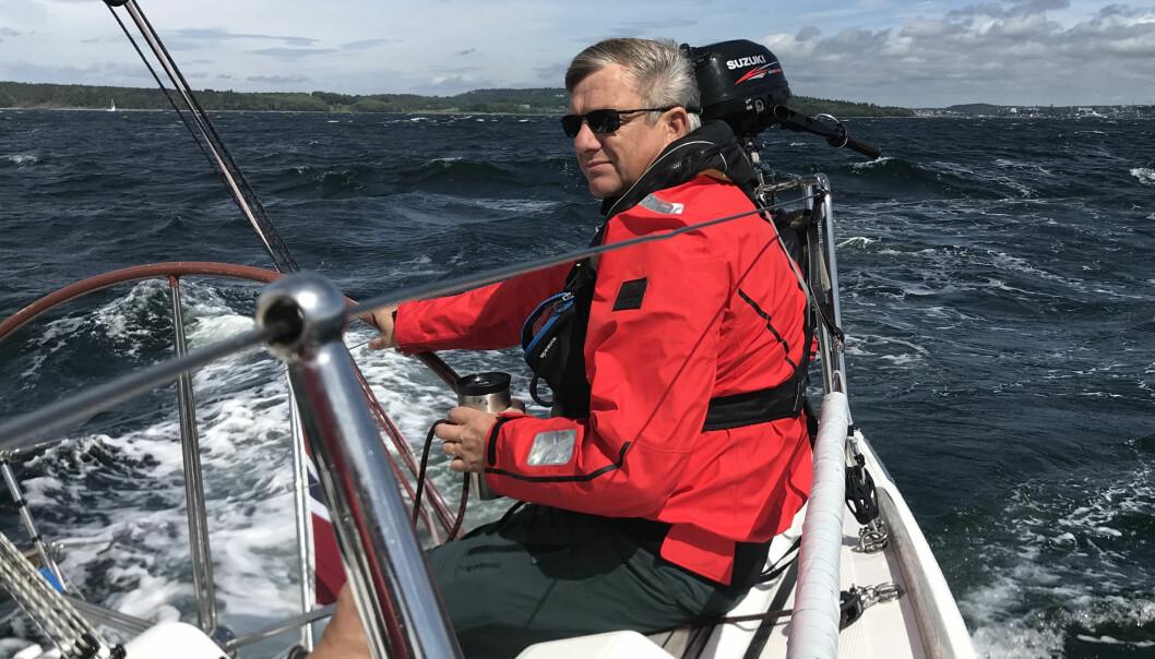 UTFORDRER: Øyvind Knudsen fra Moss er den eneste som kan utfordre Anette Melsom Myhre om tittelen Årets shorthanded-seiler 2020.