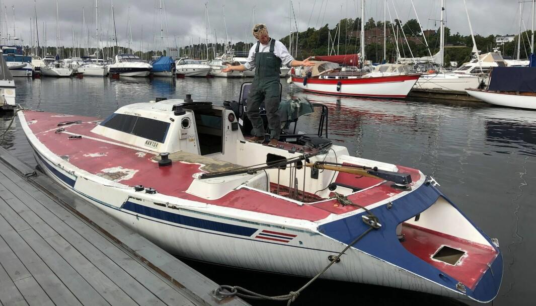 KONGE: Martin Kamperhaug er klar for å restaurere kongens 1/2-tonner for andre gang.
