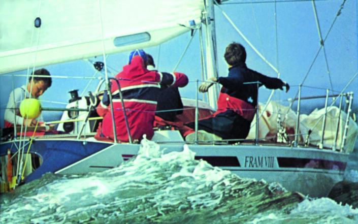 1983: «Fram VIII» tok en fjerdeplass på Hankø, og ble slått av tre franske båter.