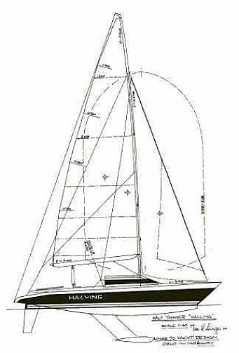 HALLING: Jan H. Linge konstruerte også en båt for mesterskapet, men den radikale båten klarte ikke å kvalifisere seg.