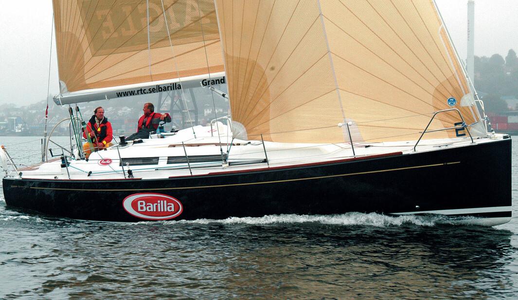 Full fart. Grand Soleil 37 var en usedvanlig lettdreven båt som burde gi sine fremtidige eiere mange gode seilopplevelser.