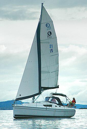 Den spesielle riggen er fornuftig, men fungerer ikke så godt på denne båten.