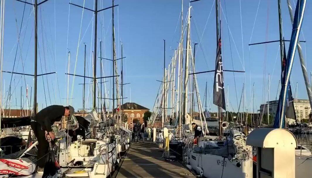 TETT: Det ligger også mange Seascape til brygga i Svendeborg .
