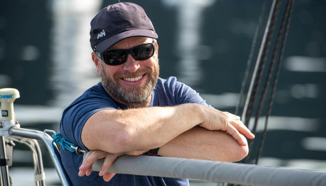 PÅ TOPP: Yngve Lønmo har grunn til å smile. Han vil overvintre på toppen av SEILmagasinet shorthanded-ranking.