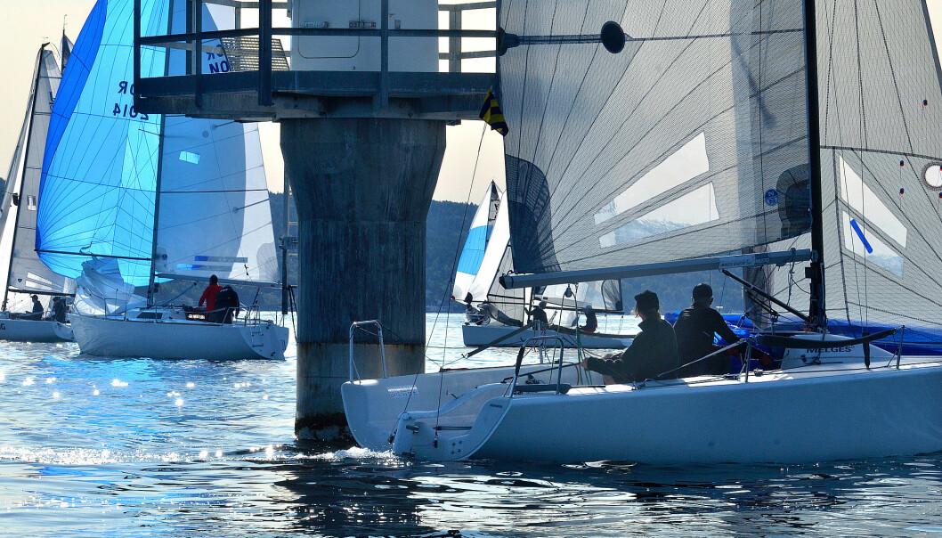 LETT: Shorthanded-NM samlet 100 båter til en helg med lett vind og sol.