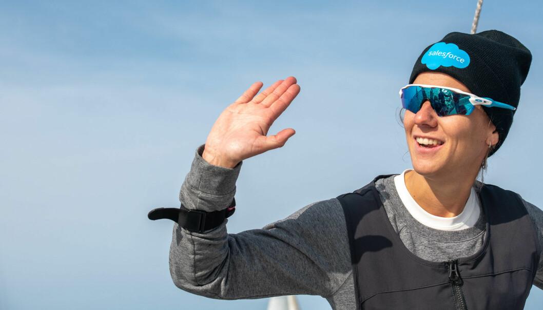 HIGH FIVE: Etter et spennende NM gikk tittelen Årets shorthanded-seiler 2020 til Anette Melsom Myhre fra Oslofjorden Seilklubb.