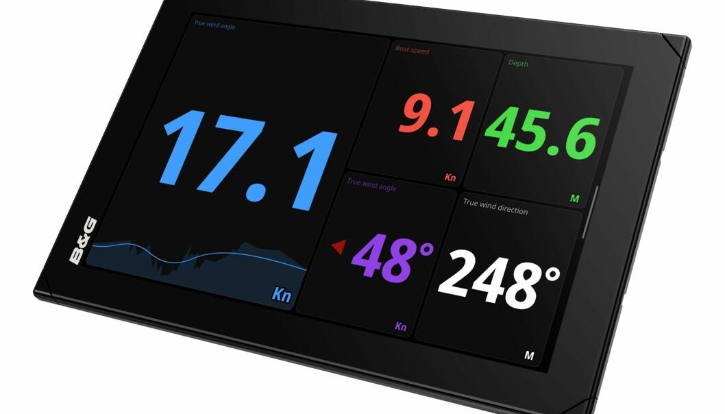 SKJERM: B&G lanserer skjermer på 9 og 12 tommer med høy oppløsning.