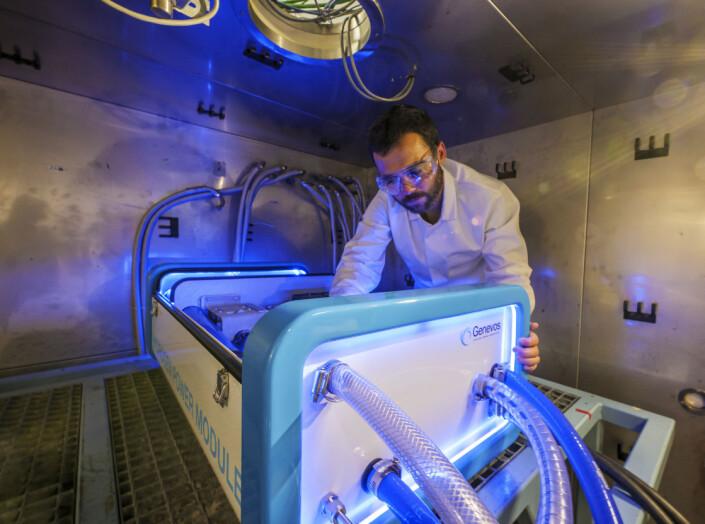 HYDROGEN: Boksen kan skape strøm til en lavere vekt enn moderne batterier.