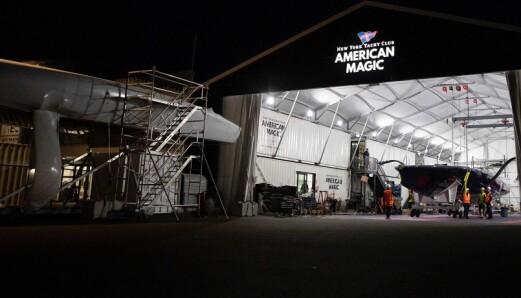 USA: To generasjoner AC75 på American Magics base i Auckland