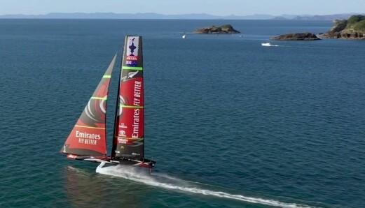SLØR: «Te Aihe» med Code 0. Båten kan seile over tre ganger vindens hastighet.
