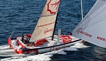 PIONER: Javier Sanso seilte Vendee Globe med elmotor i 2012/13, men fikk ikke fullført.