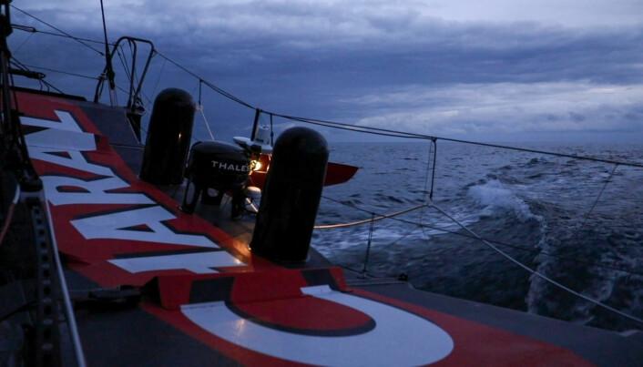 ANTENNE: «Charal» testet ut utstyret under Vendee Atlantique i sommer.