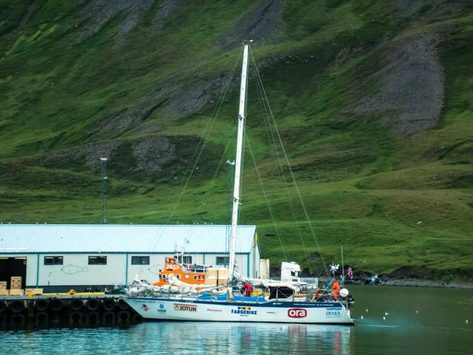 ELDING: Hafstein Johannsson seilte sin 62 fot lange «Elding» rundt jorden i 1990/91.