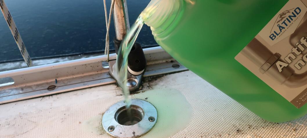 Kjemisk sikret vanntank