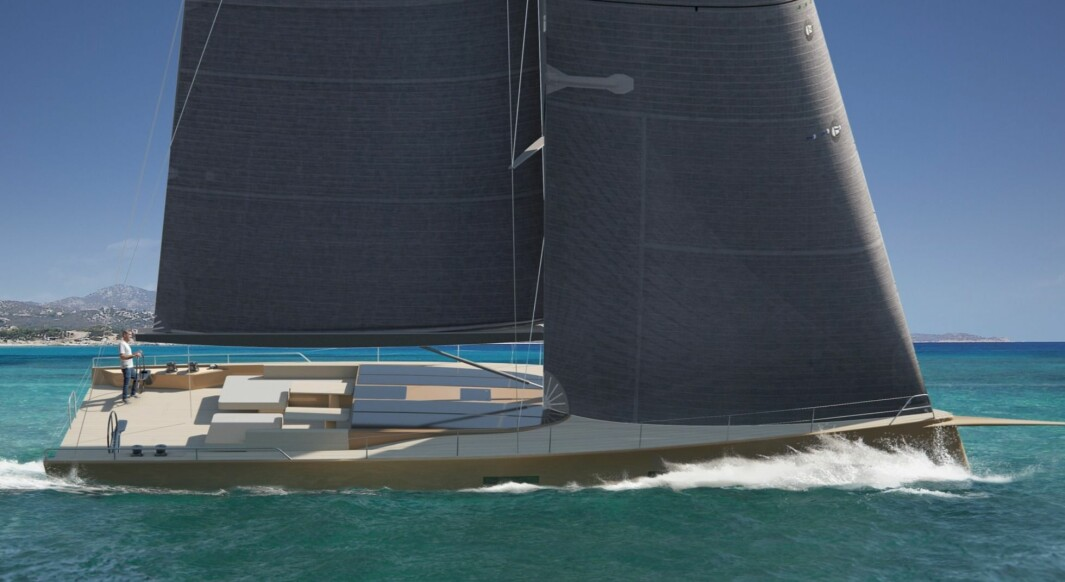 RASK: 68-foteren får benevnelsen Café-racer som skal beskrive båtens konsept.
