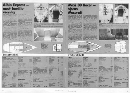 DATA: Expressen er klart billigst, og var også mest egnet for turseiling av de tre båtene som alle var utviklet hvor seilegenskaper var høyest prioritert.