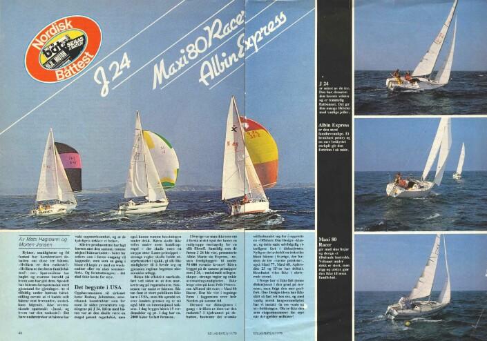 1979: J/24, Maxi 80 Racer og Albin Express mot hverandre for første gang under vår store nordiske test hvor Expressen fremstår som det beste kjøpet.