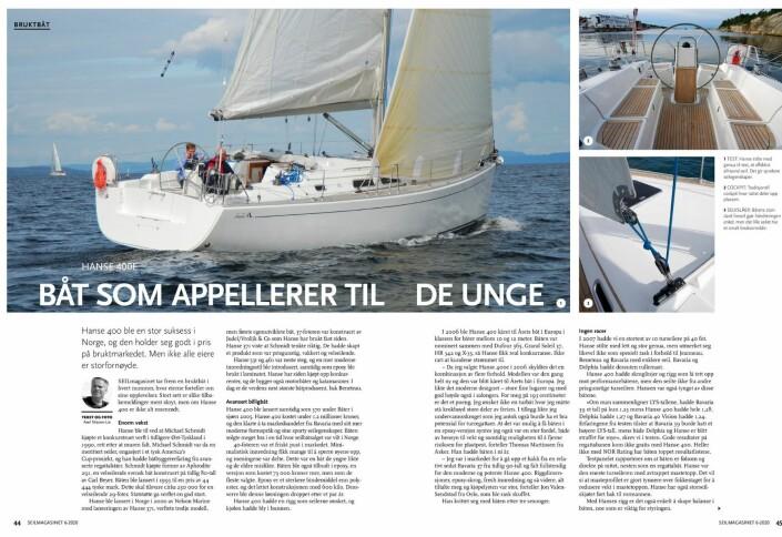 ARTIKKEL: Saken om Hanse 400 i SEILmagasnet 6.
