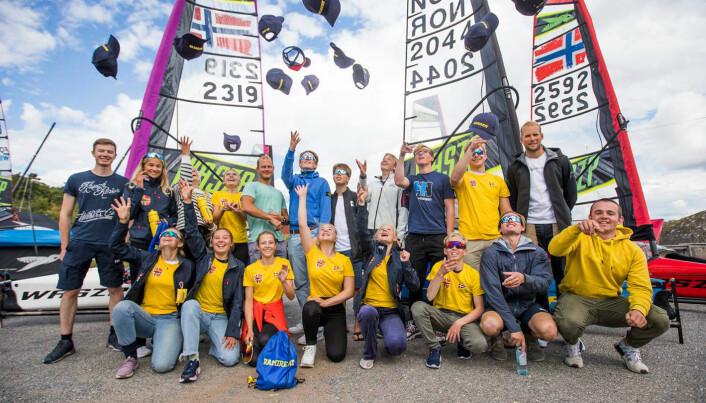 WASZP-SEILERE: Youth Sailing World Cup kan være noe å strekke seg etter for flere norske Waszp-seilere.