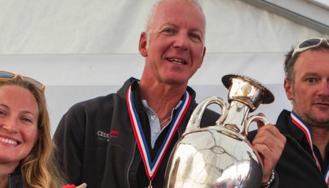 Riccardo Simoneschi with trophy