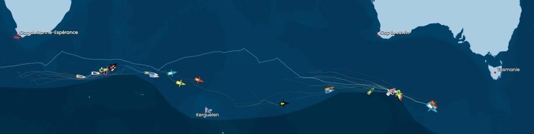 POSISJONER: Feltet strekker seg over hele det Indiske hav.