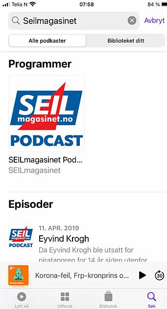PODCAST: Søk opp SEILmagasinet på din podcast app, og hør over 100 samtaler.