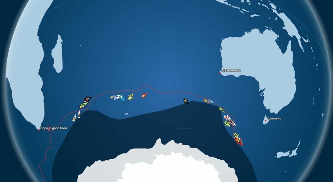 POSISJON: Feltet sprer seg ut over hele Det Indiske Hav.