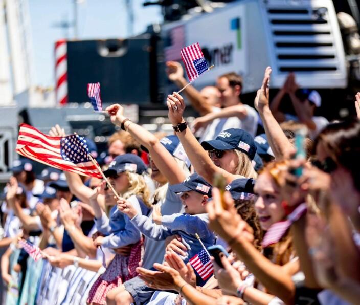 VINNER: USA har to seiere og ingen tap, og troner resultatlisten.