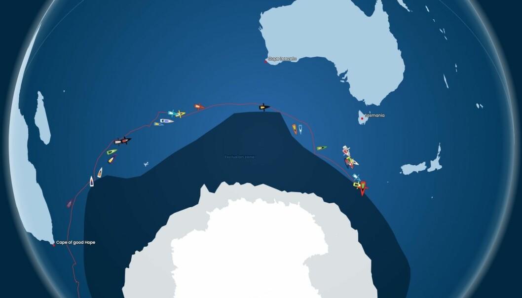 POSISJON: Feltet er spredt over 4700 nm, 9 tidssoner. 10 er alt i Stillehavet.