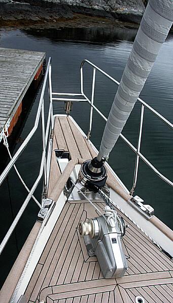 SOLOD: Båten er utstyrt med baugspryd med pulpit.