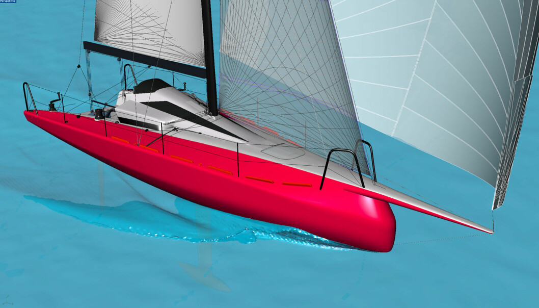 TØFF: Aeolos P30 blir både lett, rask og billig. Båten er skapt for å vinne soloregattaen Silverrudder.