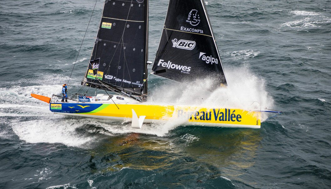 RASKEST: Louis Burton seiler vinnerbåten fra 2017, en båt som kan vinne for annen gang.