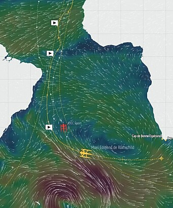 TRYKK: Cammas vil få en rask seilas østover.