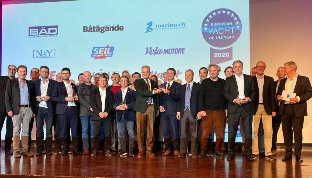 VINNERE: Bilde fra Årets Båt i Europa-utdelingen i 2020.