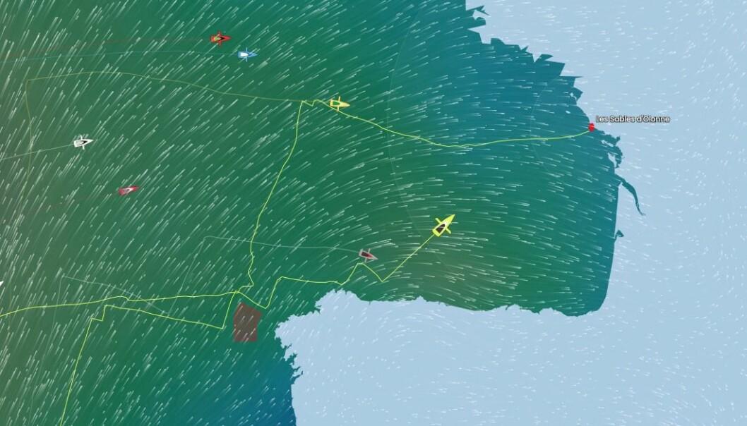 INNSPURT: Dalin har kortest vei mot mål, og kommer fra sydvest, mens Burton kommer fra vest-nordvest.