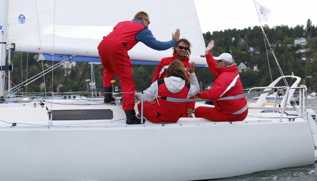 KONGEBÅT: Kong Harald fant veien til Express-klassen for å møte god konkurranse.