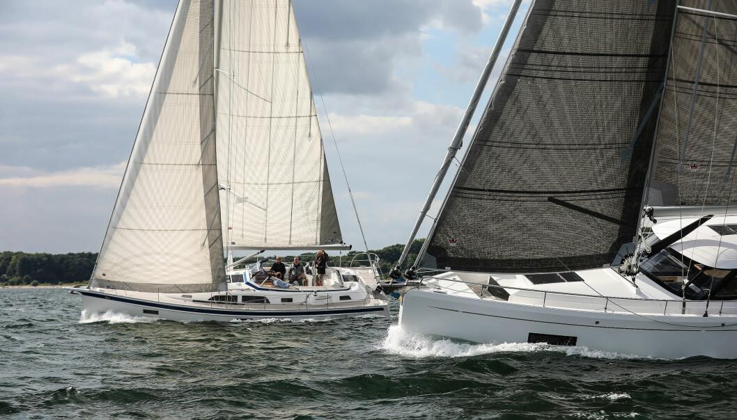 LUKSUS: Hallberg-Rassy 40C og Moody 41 DS side om side ved Kiel.