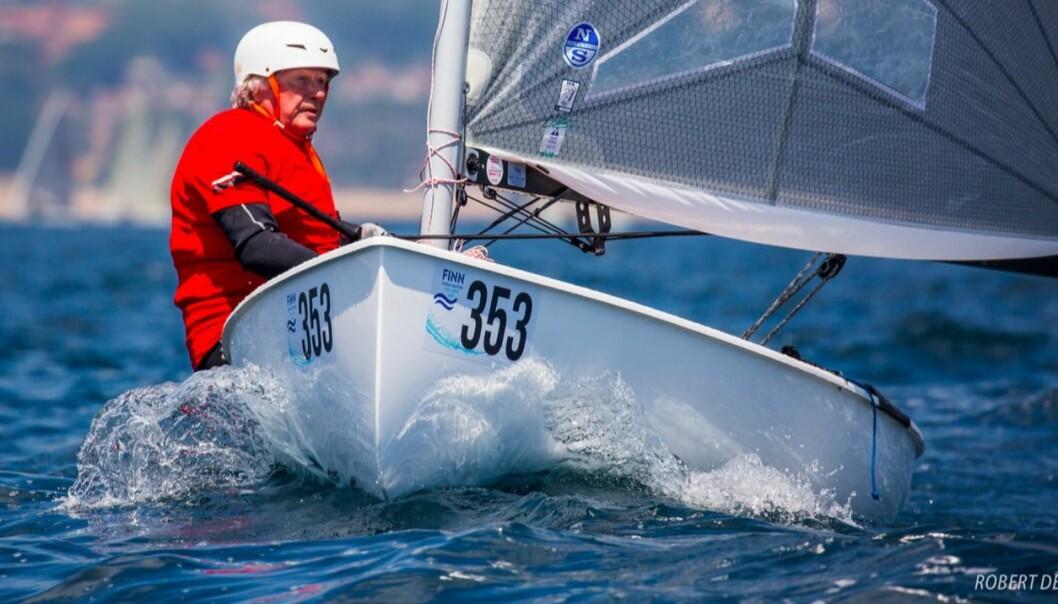 VETERAN: Ola Johannessen har seilt OK- og Finnjoller siden 50-tallet.