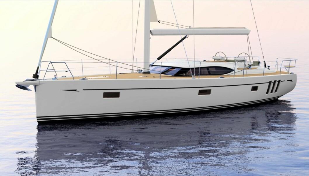 NY: Den nye 50-foteren blir typisk Oyster og blir nok en båt menge vil måle opp mot Hallberg-Rassy 50.