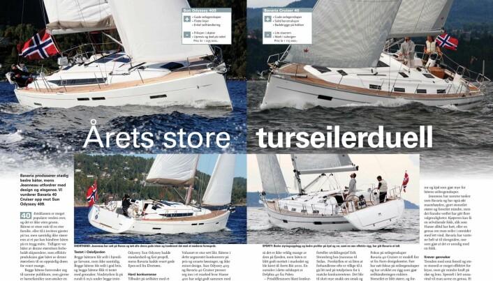 OPPSLAG: Duellen mellom Sun Odyssey 409 og Bavaria Cruiser 40 fra 1-2011.