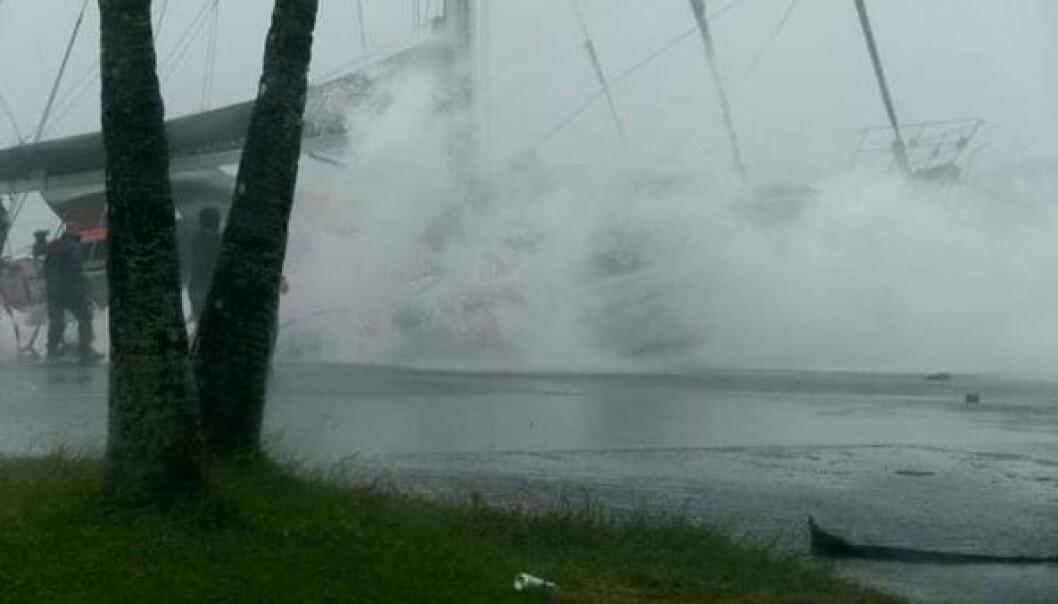 KNUST: Gaute Ulvøys 55-fots seilbåt ble knust av en tropisk syklon i februar. Forsikringen dekker ikke skaden.