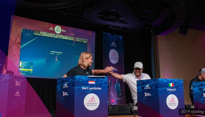 "VM I E-SEILING: VM-finalen i e-seiling 2019 foregikk ""live"" på Bermuda."