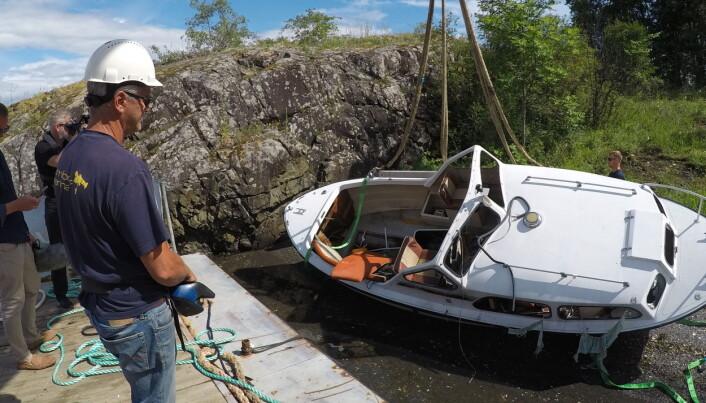 LETTVINT: Lettere å overlate vraket til det offentlige enn å håndtere det selv, sier en oppgitt Kjetil Svelland i Kambo Marine som i 2020 samlet inn 260 tonn båtvrak fra Oslofjorden.