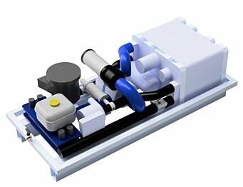 REKKEVIDDEFORLENGER: Hyrex Boost 300 er et brensellcelleanlegg som produserer strøm ut av hydrogen.