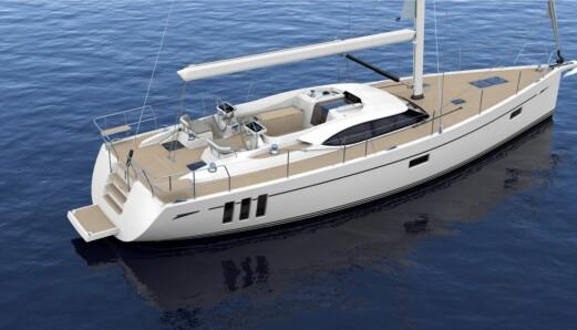 """<span class="""" font-weight-bold"""" data-lab-font_weight_desktop=""""font-weight-bold"""">Oysters minste </span>Oyster er sterkt tilbake, og den nye 495 kan være en aktuell båt for noen. Humphreys Yacht Design er verftets husdesigner, og den nye 50-foteren har Oysters typiske karakteristikk. En sentercockpit-båt med et strømlinjeformet dekkshus. Båten får også verftets typiske tre vertikale vinduer, men kun fra eierlugaren akter. Nye Oyster 495 er nesten like stor som Hallberg-Rassy 50, men litt billigere. Du må u med over 15 millioner kroner."""