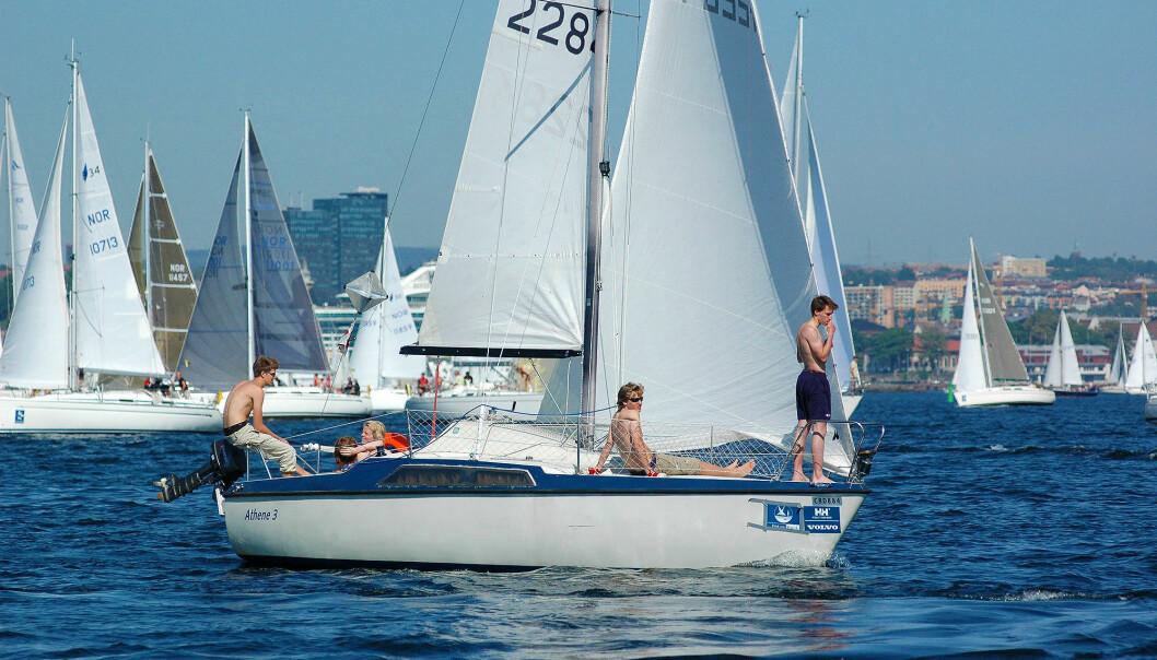 PRAKTISK: Maxi 77 var langt forut for sin tid. I dag er den blitt en ettertraktet ungdomsbåt.